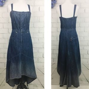 Levi's Denim Hi-lo Fishtail Hem Dress Medium